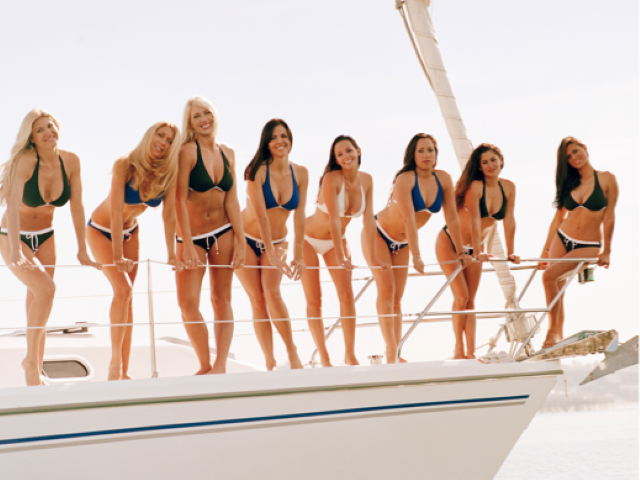 Miami , South Beach Yacht Strippers